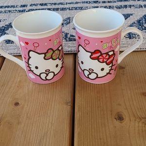 Pair of hello kitty mugs